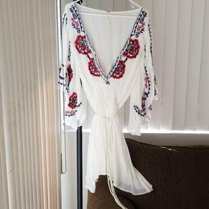 Free People boho angel sleeve dress